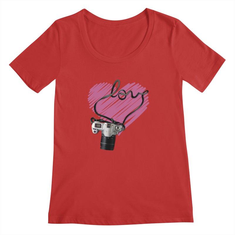 camera Love Women's Regular Scoop Neck by gabifaveri's Artist Shop