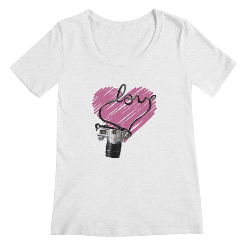 camera Love Women's Scoop Neck by gabifaveri's Artist Shop
