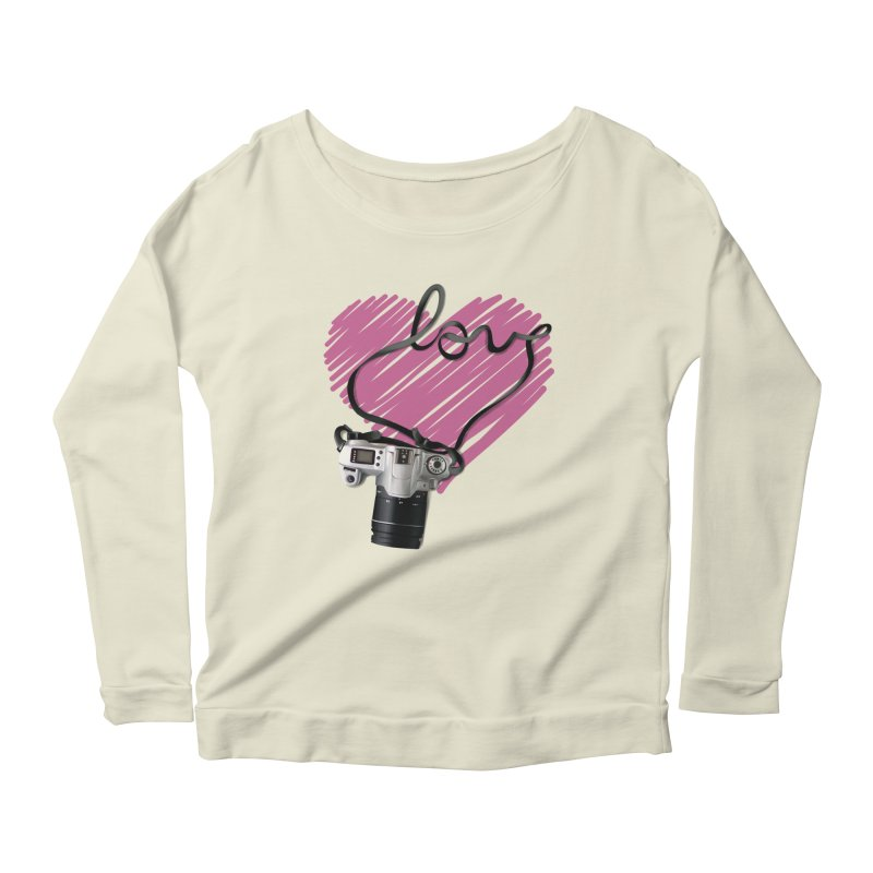 camera Love Women's Scoop Neck Longsleeve T-Shirt by gabifaveri's Artist Shop