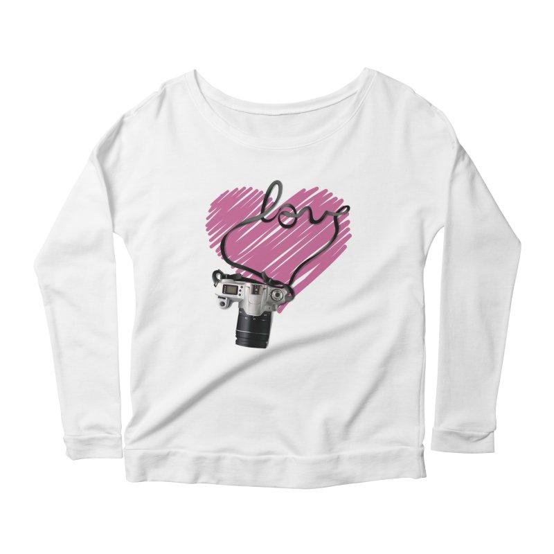 camera Love Women's Scoop Neck Longsleeve T-Shirt by gabifaveri's Artist Shop