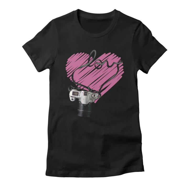 camera Love Women's Fitted T-Shirt by gabifaveri's Artist Shop