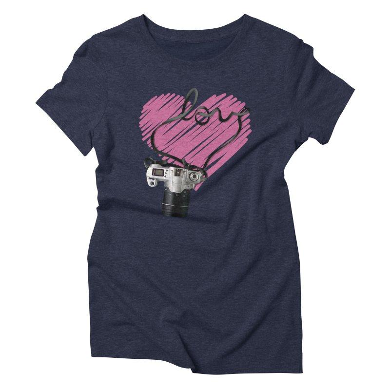 camera Love Women's Triblend T-Shirt by gabifaveri's Artist Shop