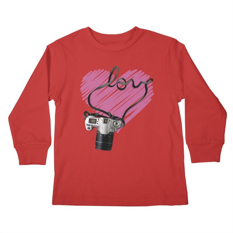camera Love Kids Longsleeve T-Shirt by gabifaveri's Artist Shop