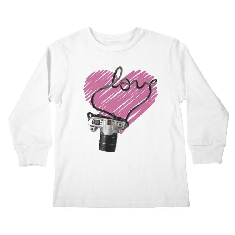 camera Love Kids Longsleeve T-Shirt by gabifaveri's Artist Shop
