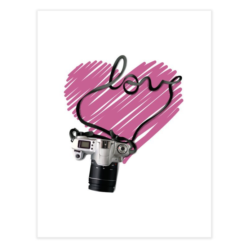 camera Love Home Fine Art Print by gabifaveri's Artist Shop