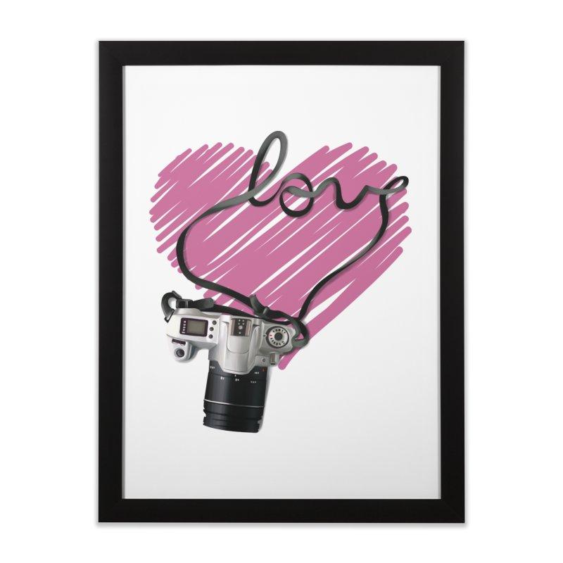 camera Love Home Framed Fine Art Print by gabifaveri's Artist Shop