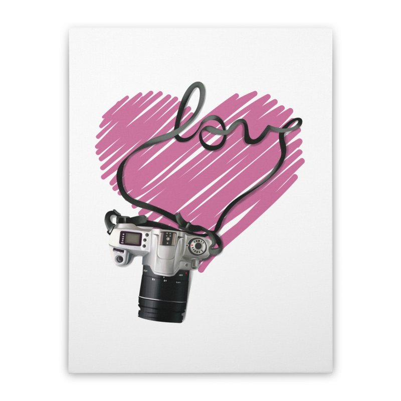 camera Love Home Stretched Canvas by gabifaveri's Artist Shop