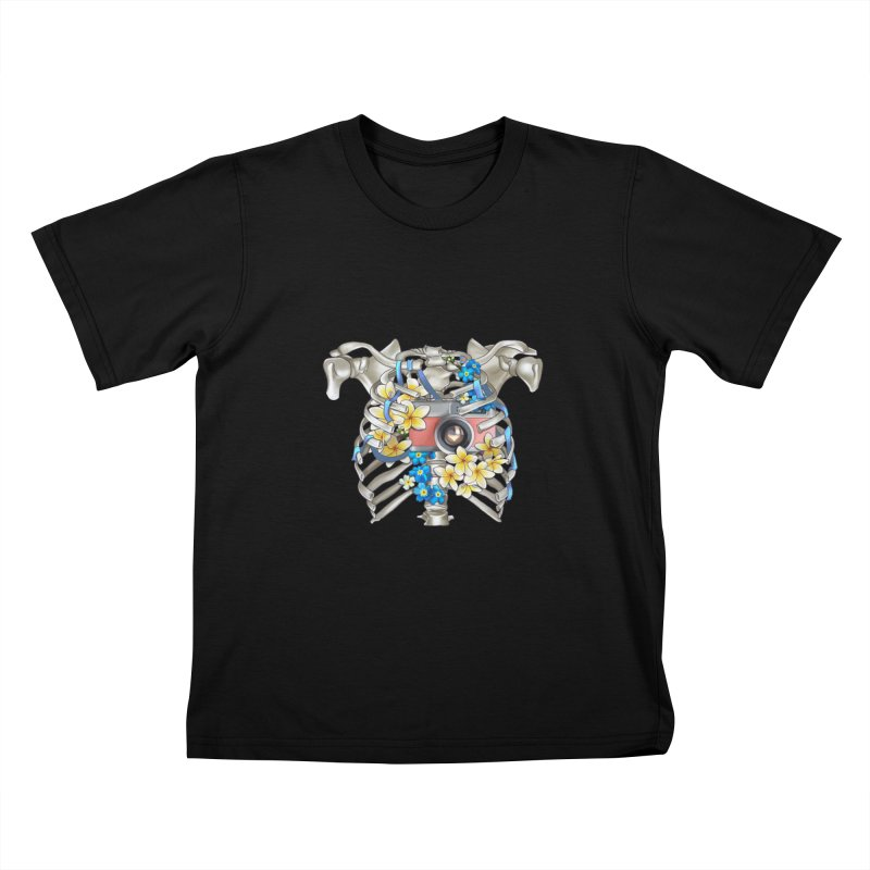 Skeleton_artwork Kids T-Shirt by gabifaveri's Artist Shop