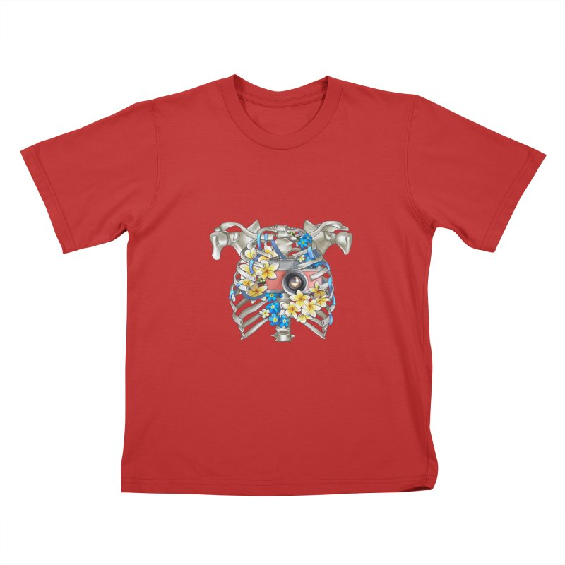 Skeleton_artwork Kids T-Shirt by gabifaveri's Artist Shop