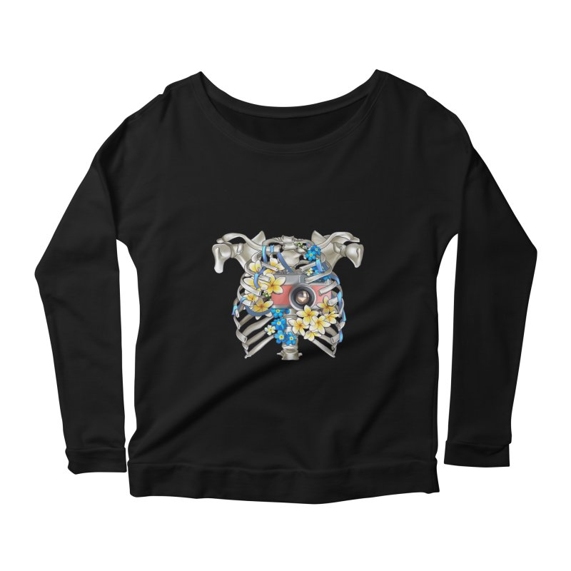 Skeleton_artwork Women's Scoop Neck Longsleeve T-Shirt by gabifaveri's Artist Shop