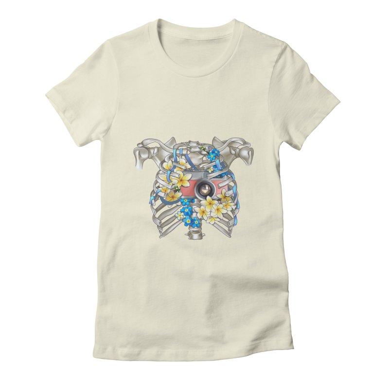 Skeleton_artwork Women's Fitted T-Shirt by gabifaveri's Artist Shop