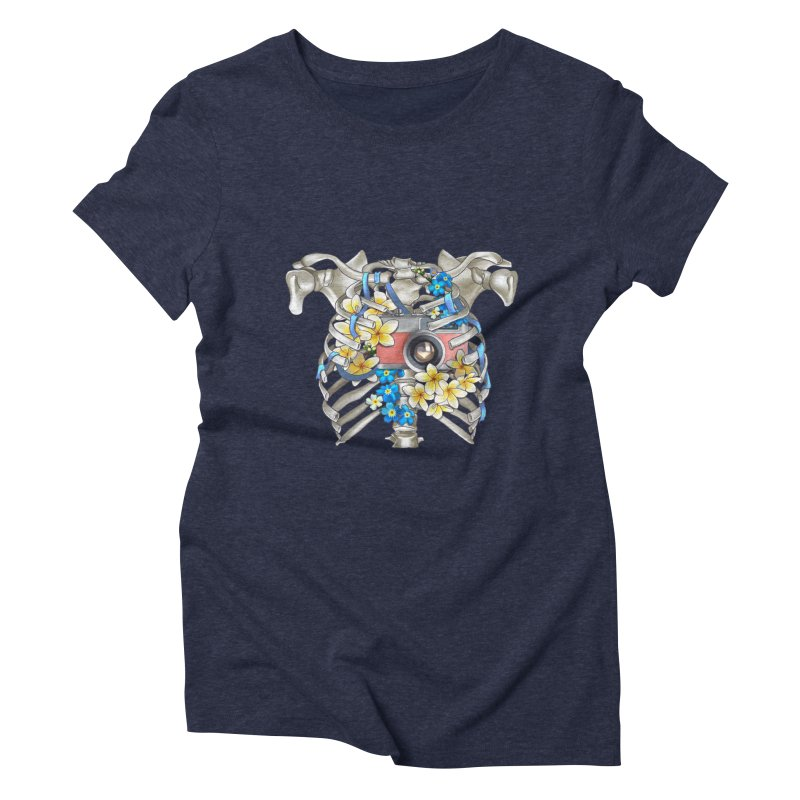 Skeleton_artwork Women's Triblend T-Shirt by gabifaveri's Artist Shop