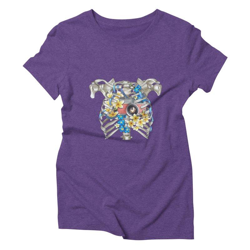 Skeleton_artwork Women's Triblend T-Shirt by gabifaveri's Artist Shop