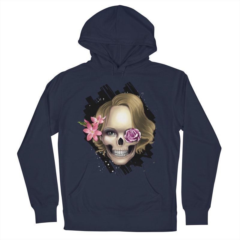 Skull_face art Women's French Terry Pullover Hoody by gabifaveri's Artist Shop