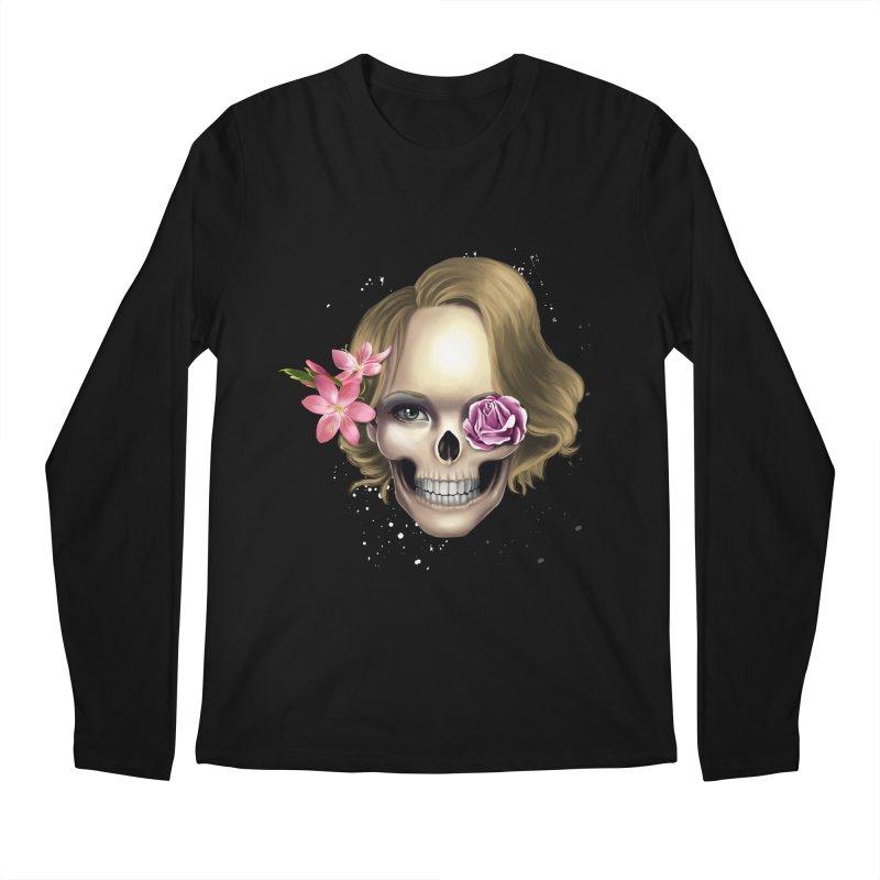 Skull_face art Men's Regular Longsleeve T-Shirt by gabifaveri's Artist Shop