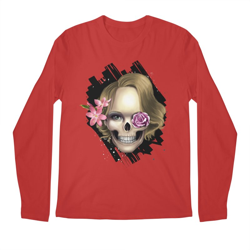 Skull_face art Men's Regular Longsleeve T-Shirt by gabifaveri's Artist Shop