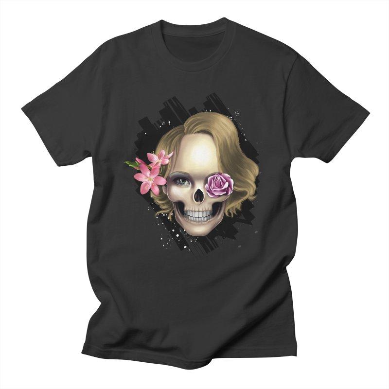 Skull_face art Men's T-Shirt by gabifaveri's Artist Shop