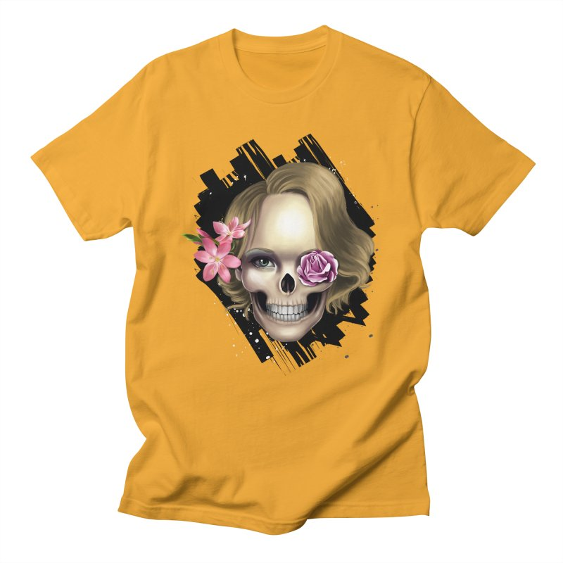 Skull_face art Men's Regular T-Shirt by gabifaveri's Artist Shop