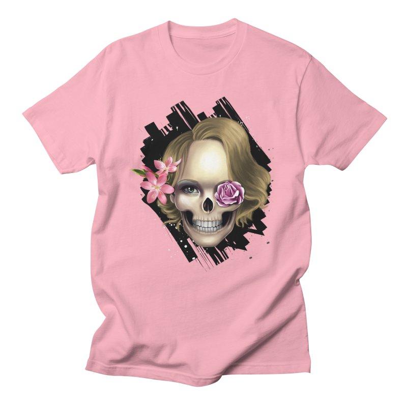 Skull_face art Men's Regular T-Shirt by gabifaveri's Artist Shop
