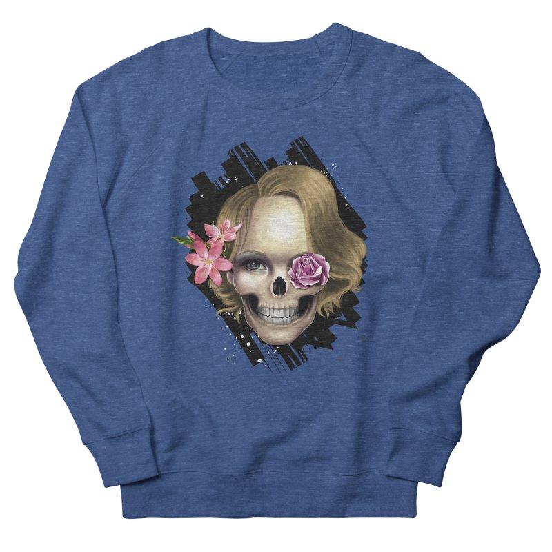 Skull_face art Women's French Terry Sweatshirt by gabifaveri's Artist Shop