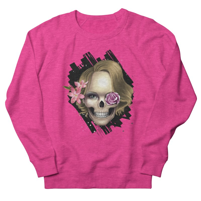 Skull_face art Women's French Terry Sweatshirt by gabifaveri's Artist Shop