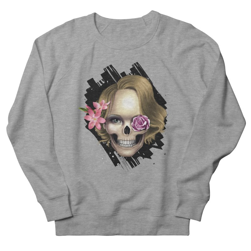 Skull_face art Men's French Terry Sweatshirt by gabifaveri's Artist Shop