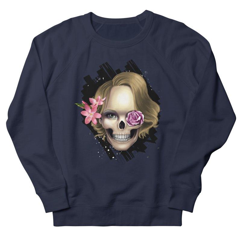 Skull_face art Men's French Terry Sweatshirt by gabifaveri's Artist Shop