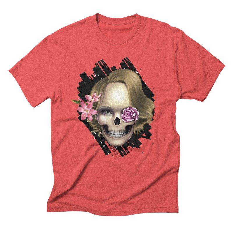 Skull_face art Men's Triblend T-Shirt by gabifaveri's Artist Shop