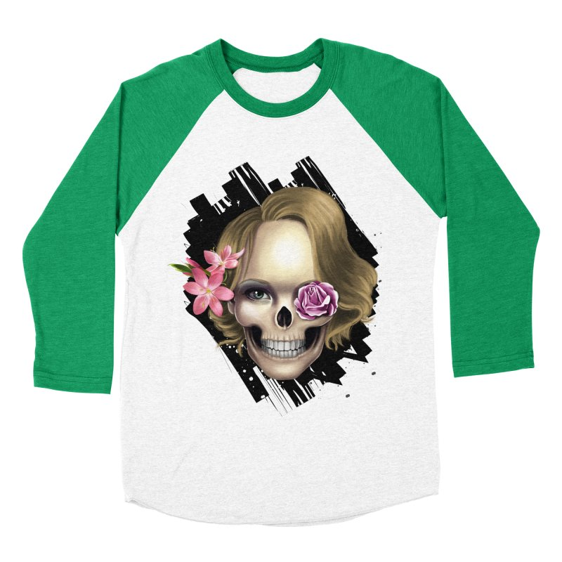 Skull_face art Women's Baseball Triblend Longsleeve T-Shirt by gabifaveri's Artist Shop