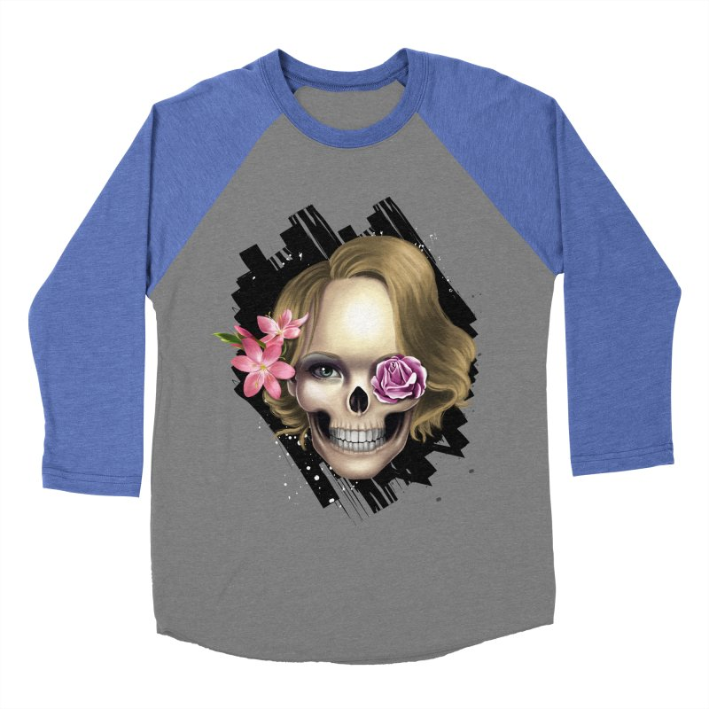 Skull_face art Women's Baseball Triblend T-Shirt by gabifaveri's Artist Shop