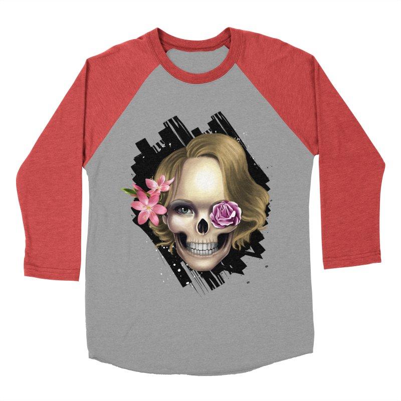 Skull_face art Men's Baseball Triblend Longsleeve T-Shirt by gabifaveri's Artist Shop