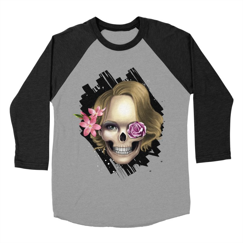 Skull_face art Men's Baseball Triblend T-Shirt by gabifaveri's Artist Shop