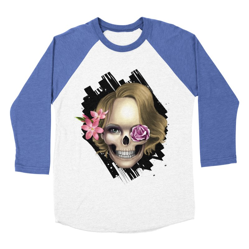 Skull_face art Men's Baseball Triblend Longsleeve T-Shirt by gabifaveri's Artist Shop