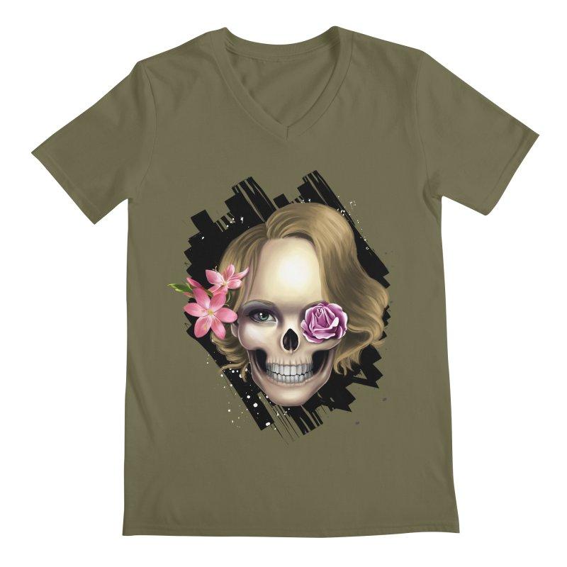 Skull_face art Men's V-Neck by gabifaveri's Artist Shop