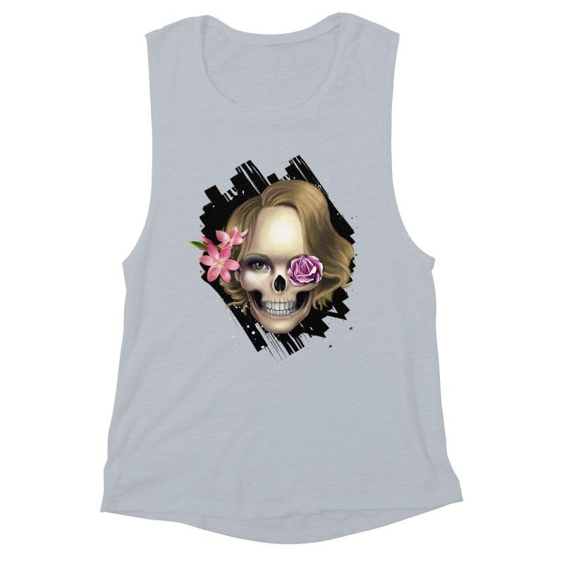 Skull_face art Women's Muscle Tank by gabifaveri's Artist Shop