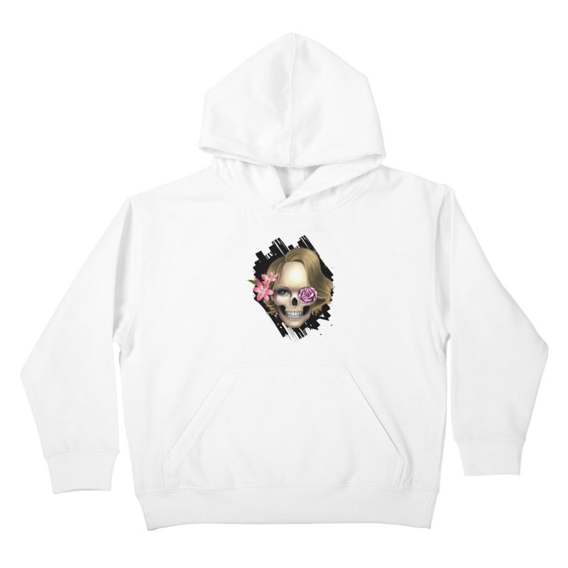 Skull_face art Kids Pullover Hoody by gabifaveri's Artist Shop