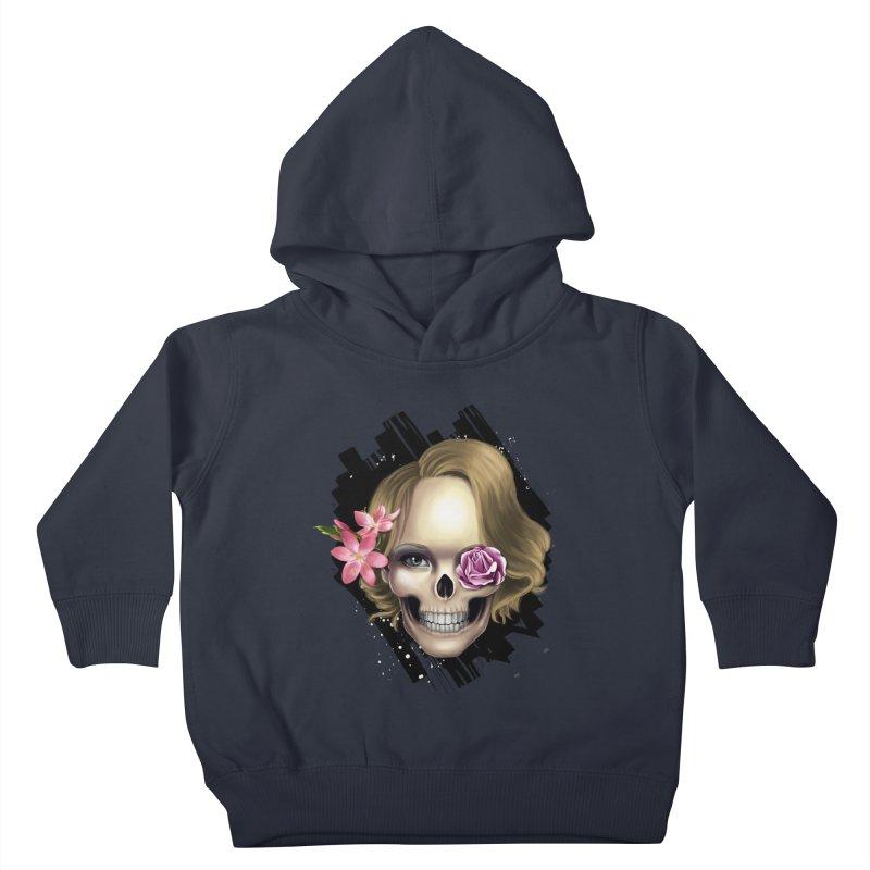 Skull_face art Kids Toddler Pullover Hoody by gabifaveri's Artist Shop