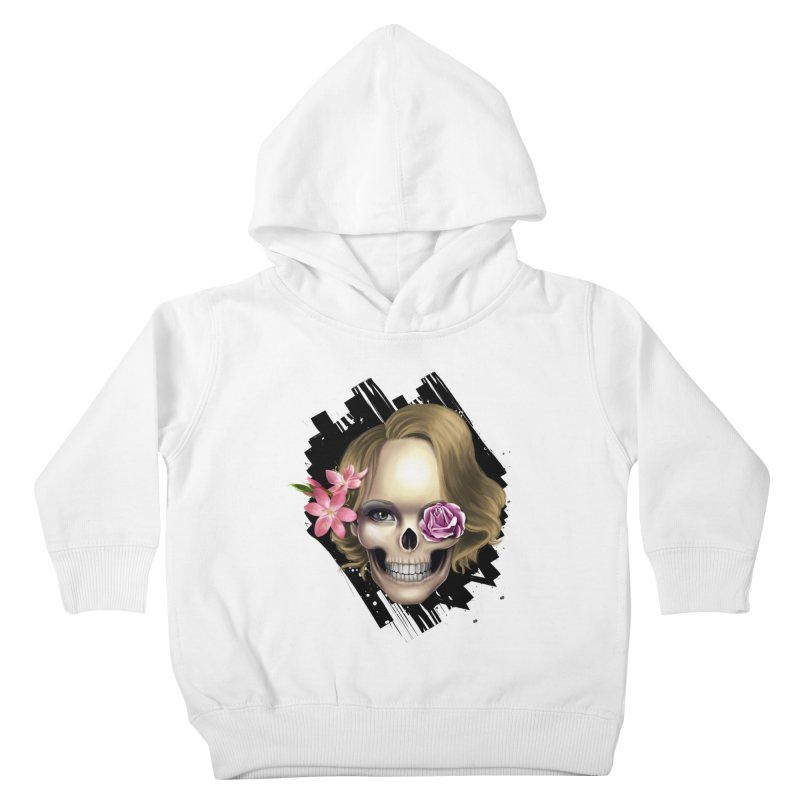 Skull_face art Kids Toddler Pullover Hoody by gabifaveri's Artist Shop