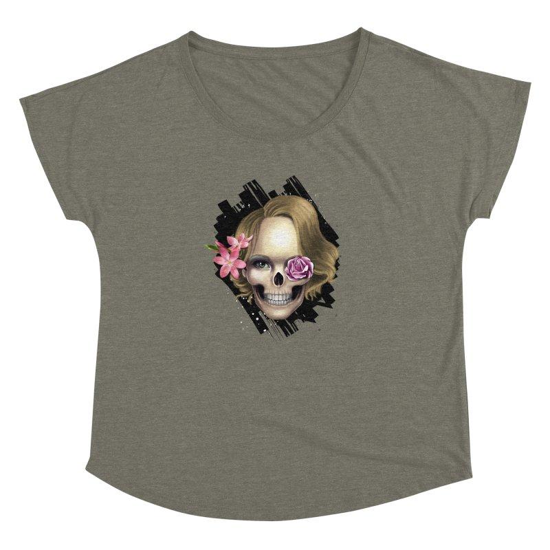 Skull_face art Women's Dolman Scoop Neck by gabifaveri's Artist Shop