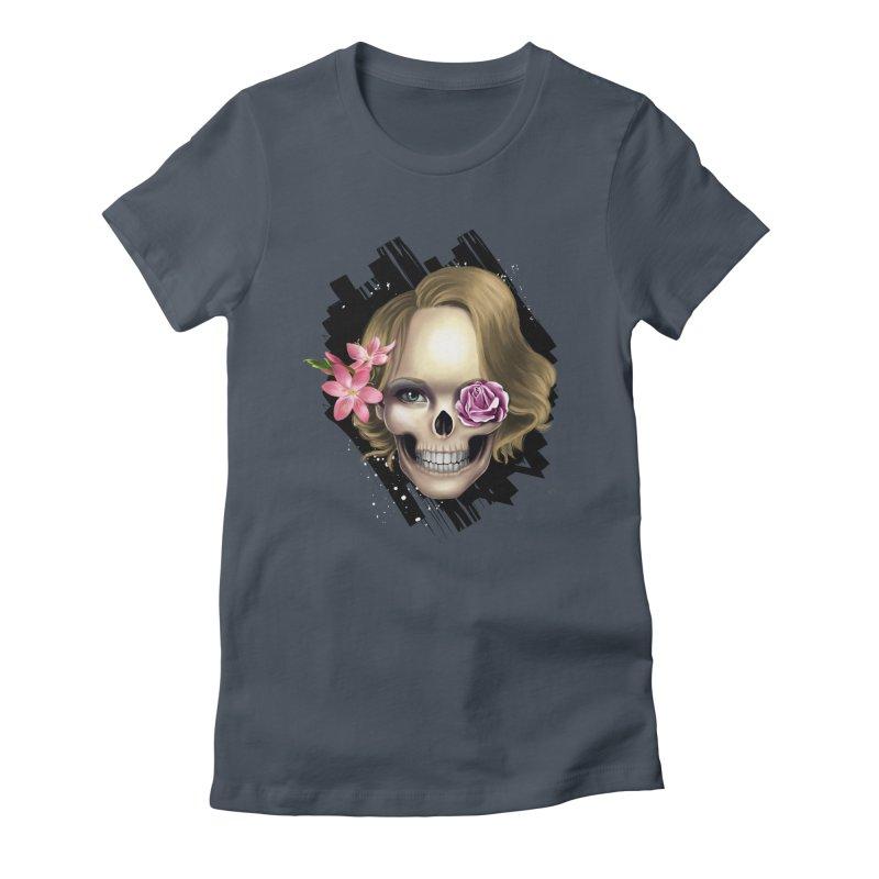 Skull_face art Women's Fitted T-Shirt by gabifaveri's Artist Shop