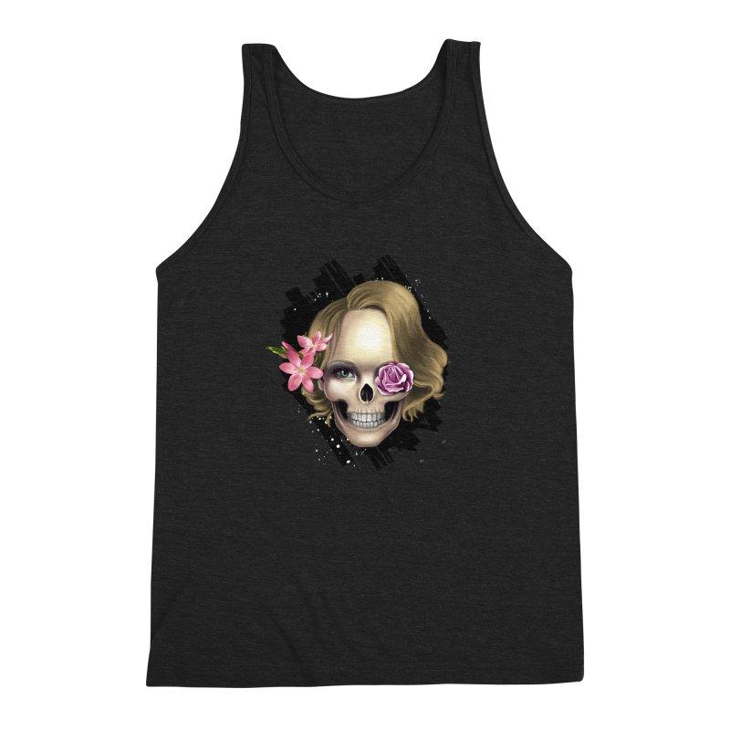 Skull_face art Men's Triblend Tank by gabifaveri's Artist Shop