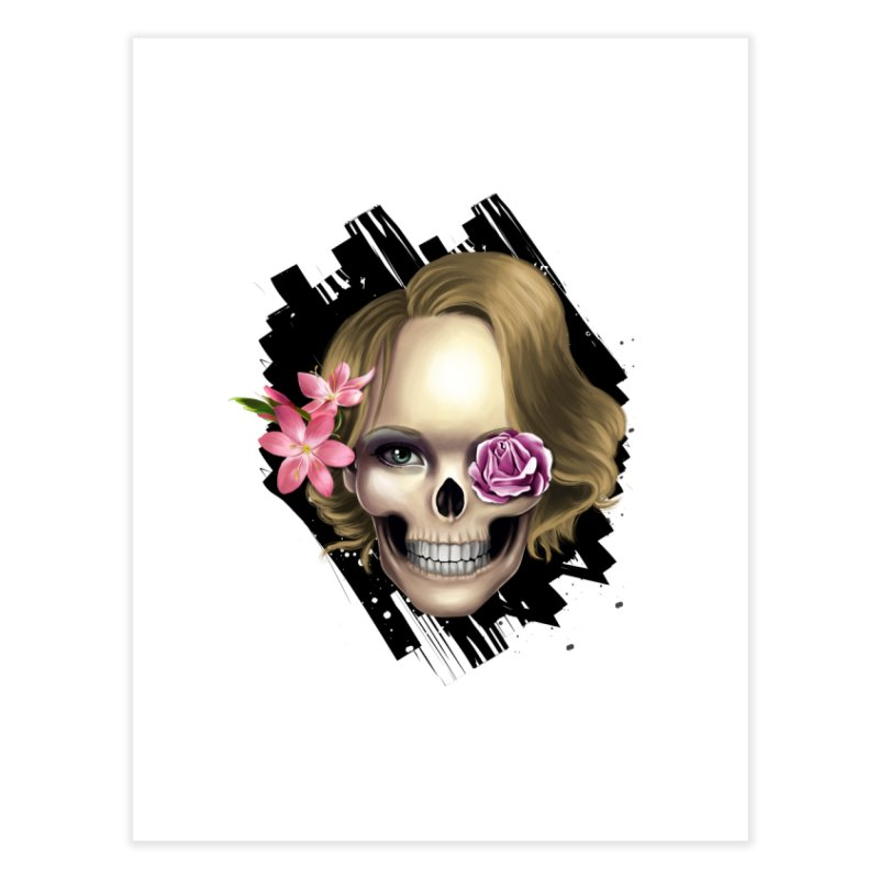 Skull_face art Home Fine Art Print by gabifaveri's Artist Shop