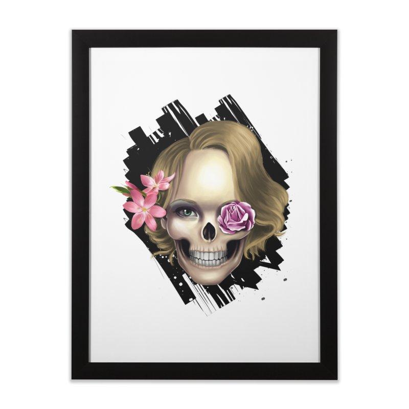 Skull_face art Home Framed Fine Art Print by gabifaveri's Artist Shop