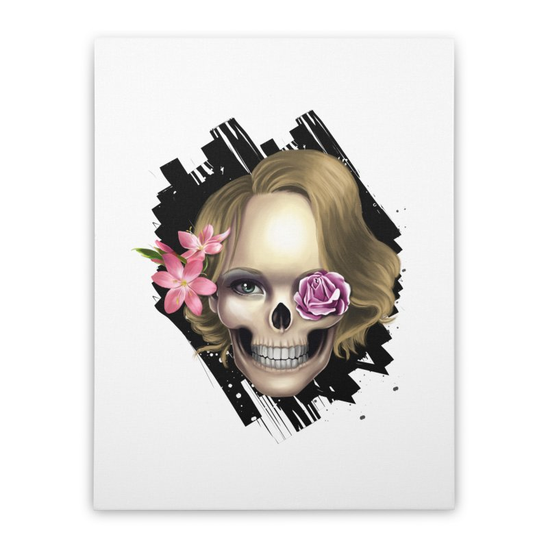 Skull_face art Home Stretched Canvas by gabifaveri's Artist Shop