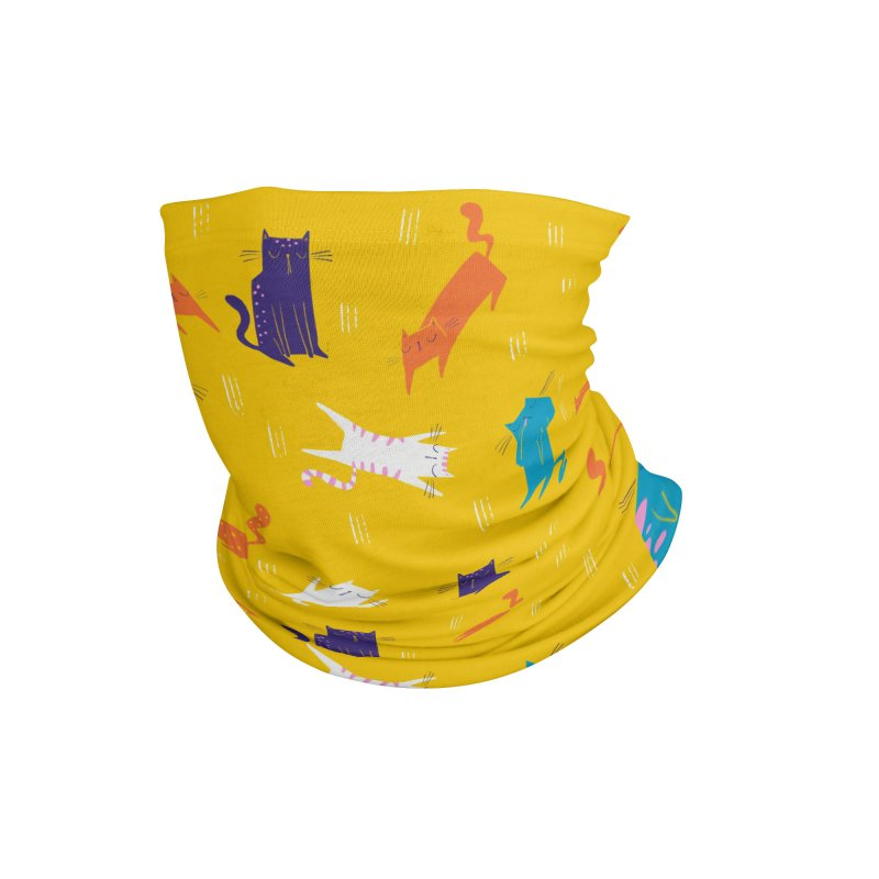 Cats and scratches pattern Accessories Neck Gaiter by Gabi Toma's Artist Shop