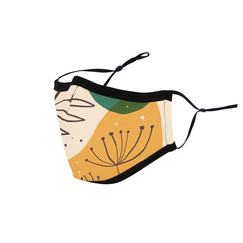 Colorful Abstract Shapes and Plants Design Accessories Face Mask by Gabi Toma's Artist Shop