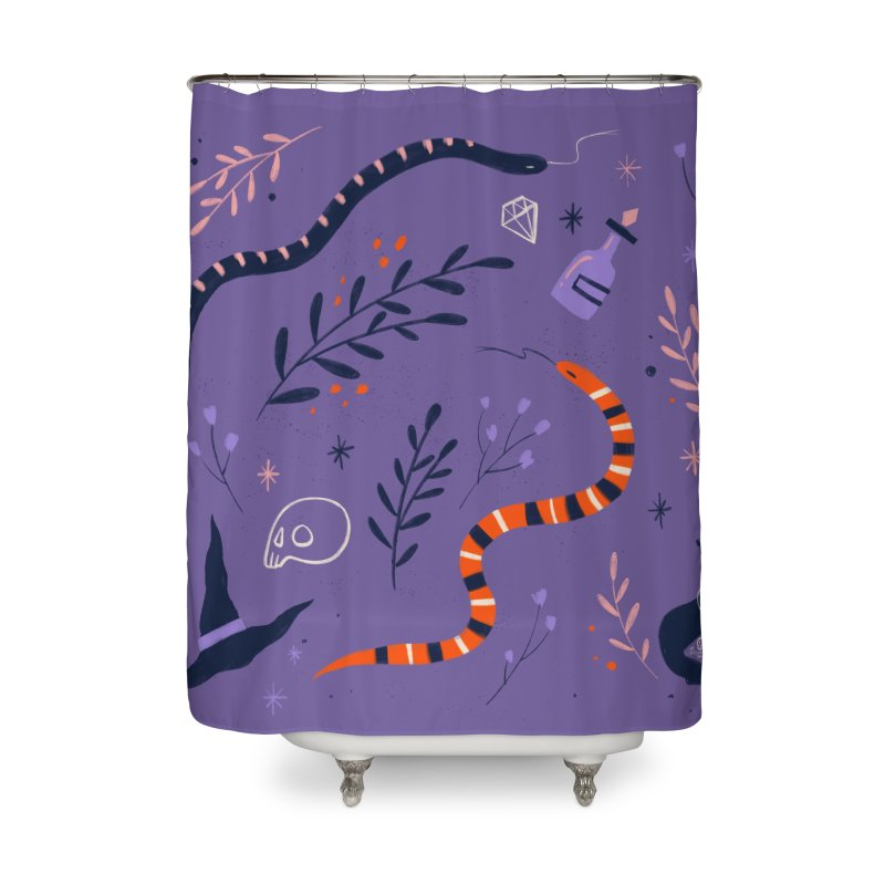 In a World full of Princesses be a Witch - quote Home Shower Curtain by Gabi Toma's Artist Shop