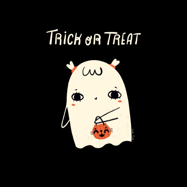 image for Trick or treat Halloween girl ghost
