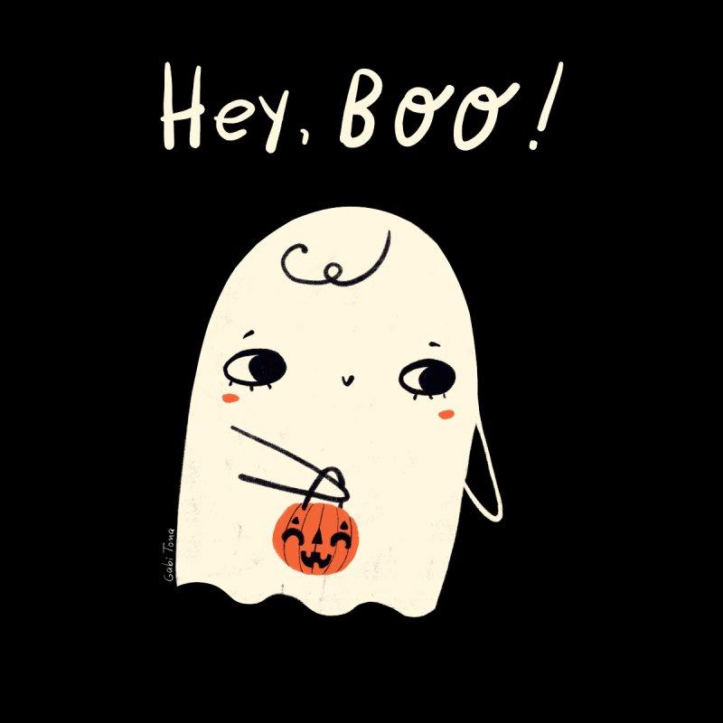Hey Boo Halloween cute ghost Men's T-Shirt by Gabi Toma's Artist Shop