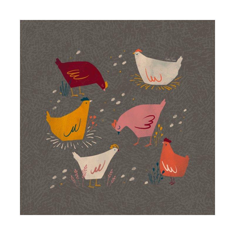 Colorful hens autumn pattern Men's T-Shirt by Gabi Toma's Artist Shop